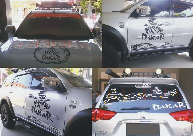 Mitsubishi Pajero Dakar Silver Dakar Custom Sticker Cutting - Custom decal stickers for cars