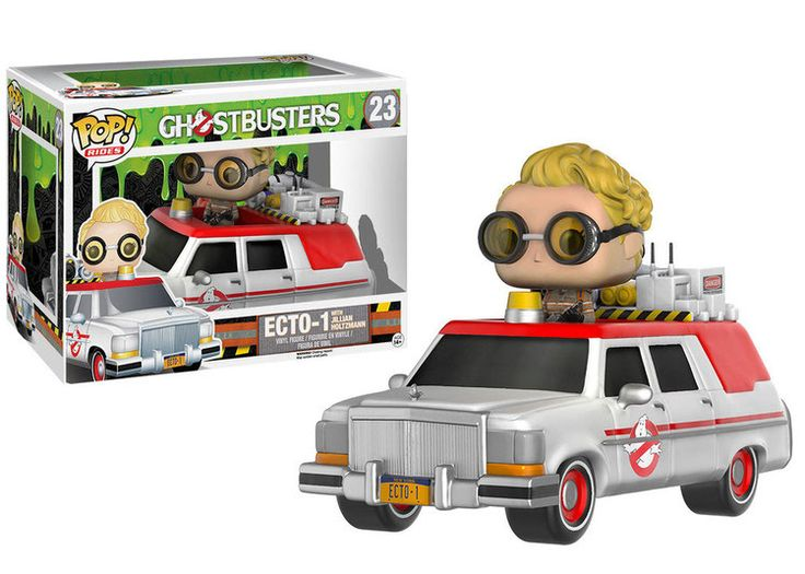 Ghostbusters 2016 POP! Rides Vinyl Fahrzeug mit Figur ECTO-1 & Jullian Holtzmann 18 cm