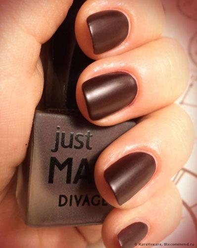 Матовый лак для ногтей Just Matt от Divage