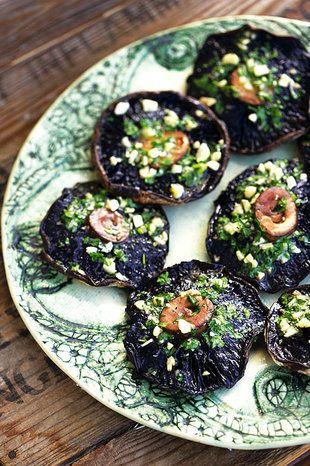 Sampioene met kruiebotter   SARIE   Mushrooms with herbed butter