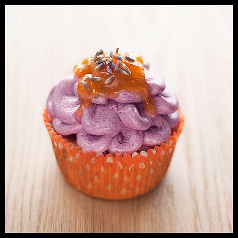 Austin Flower: Apricot & Lavender vegan cupcake by http://veganfolies ...