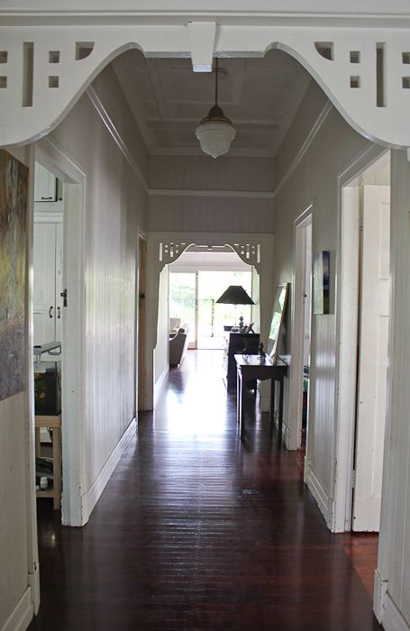 Beautiful floorboards & love the detailing in the hallway