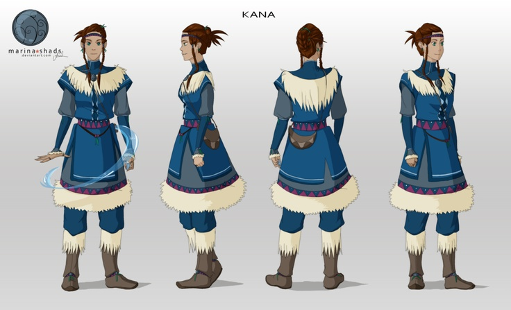 Character Design Avatar The Last Airbender : Character design kana avatar the last airbender