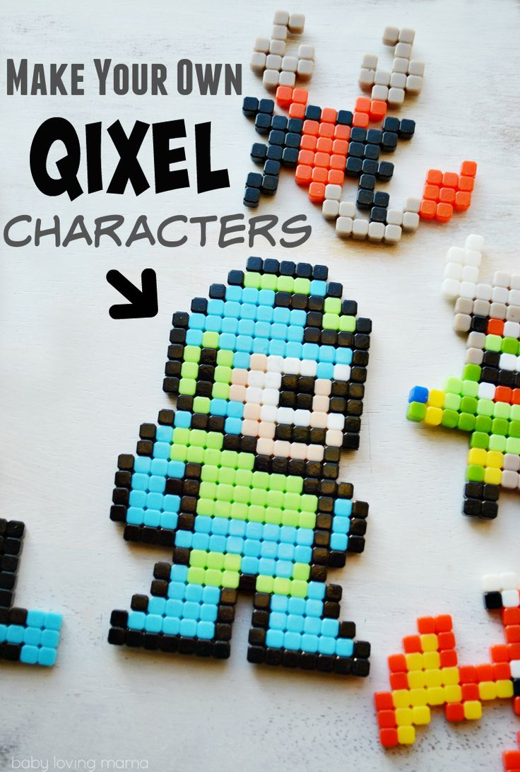 Make your own characters with Qixels, a hot holiday toy for boys. These affordable activity sets allow you to create your own 8-bit characters! #QixelsWorld #CG [ad]