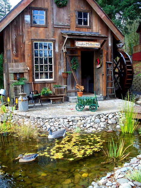 Water wheel mill - Google Search