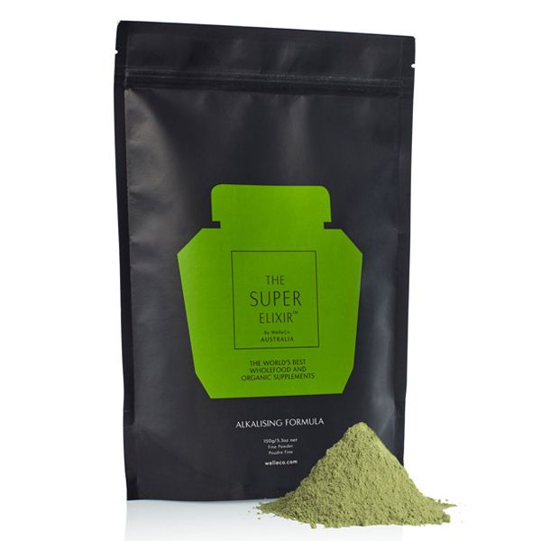 This cult-favorite, superfood-packed (and we mean packed) daily greens supplement powder is specifically designed to help your body maintain a healthy pH balance. When your body is in a balanced, alkaline state—not acidic like most—it's functioning at its peak. The Super Elixir Alkalizing Greens Formula contains 45 natural ingredients (including super greens, Chinese herbs, digestive enzymes, probiotics, and other cold-pressed, bio-live ingredients) are included in calculated ratios to op...