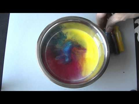 Experimentos caseros sencillos -  Leche, colorante y jabon