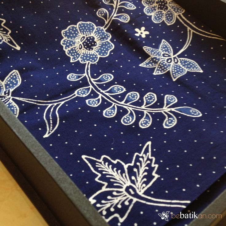 bunga raya motif on batik