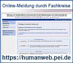 Neues Fenster: Online-Meldeportal von Verdachtsfällen unerwünschter Arzneimittelwirkungen und Impfkomplikationen für Fachkreise