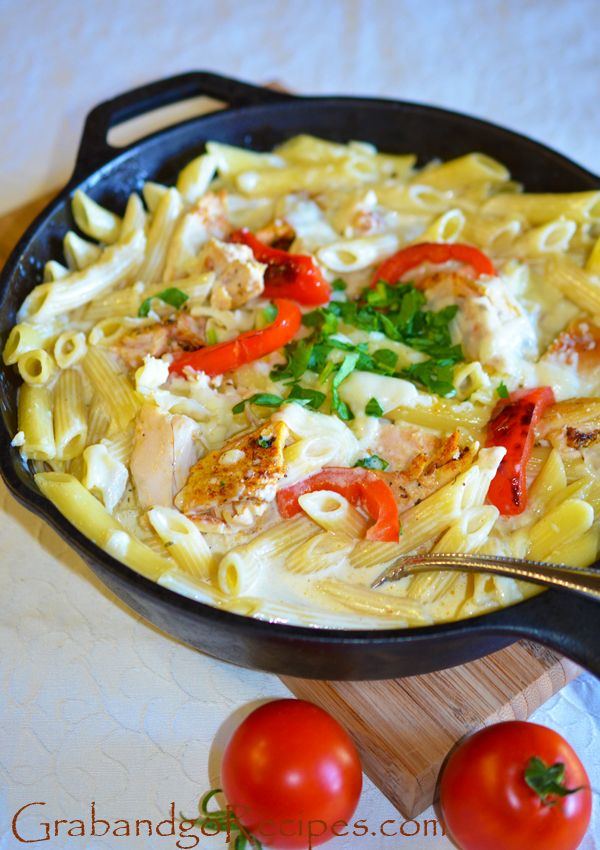Baked Penne Pasta with Chicken Alfredo Sauce - UNDER 1 HOUR #Dinner #ChickenAlfredo
