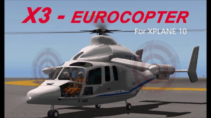 Quick look at the unique looking EurocopterX3 for Xplane 10