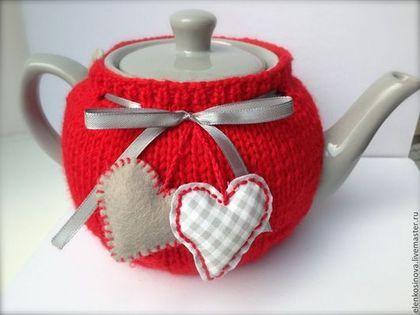 грелка, грелка на чайник, грелка вязаная , грелка на чайник, грелка для чайника, заварочный чайник, посуда, , подарок на день святого Валентина, сердце, сердечко, посуда для кухни, сервировка стола, любимой подруге новоселье