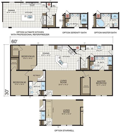 Manufactured and modular home plans floor plans photos for House plans 1800 sq ft with porches