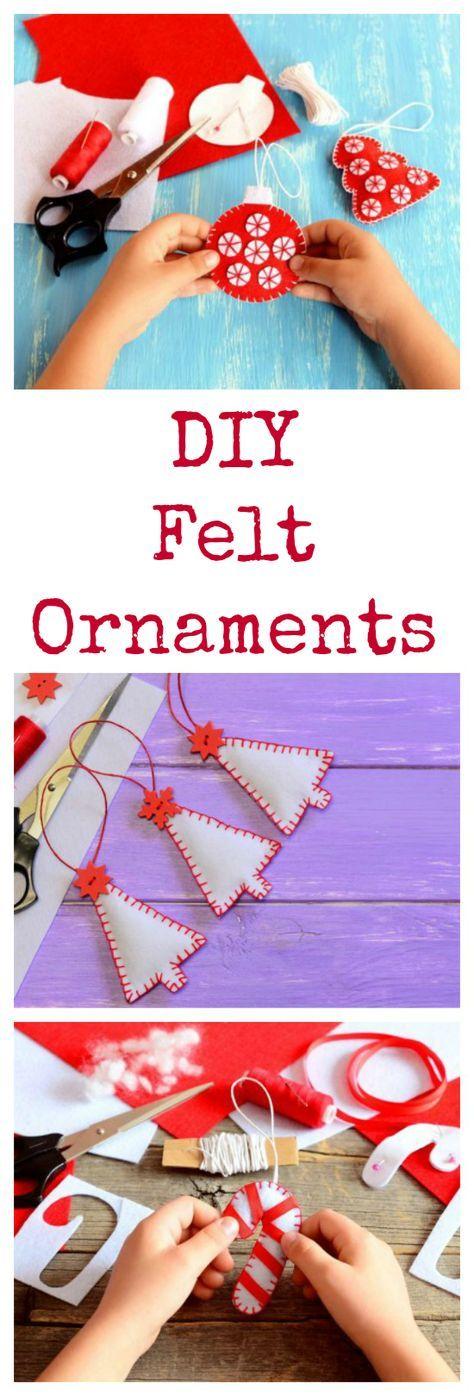 Homemade Felt Christmas Tree Ornaments Christmas crafts