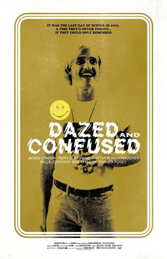 """Dazed and Confused movie poster / print (""""Watch the leather, man."""" - Matthew McConaughey)"""