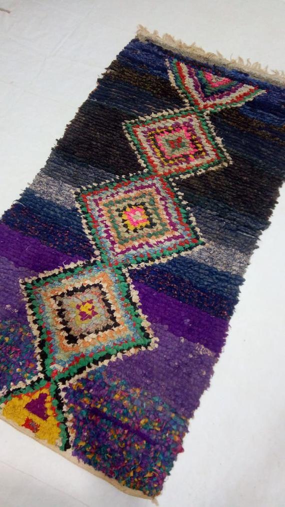 Azilal Rug Vintage Rug Moroccan Rug Berber Rug Morocco Boucherouite