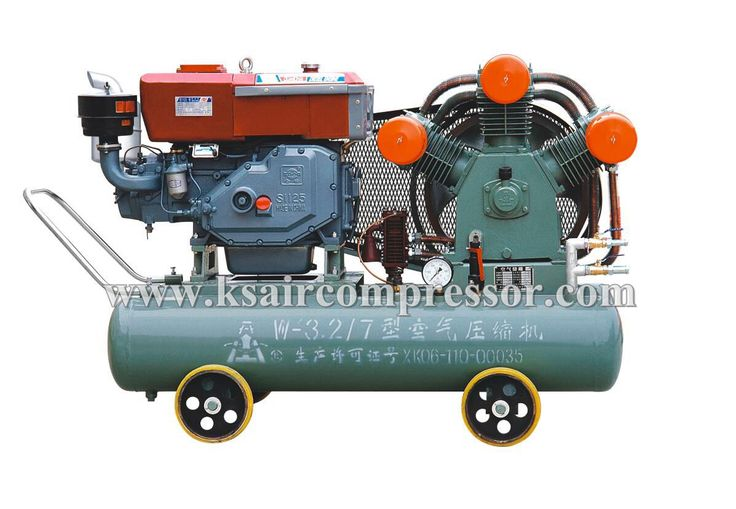 Mining air compressor, diesel powered air compressor, portable air compressor