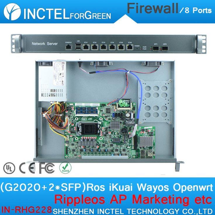 486.00$  Watch now - http://aliczo.worldwells.pw/go.php?t=32328761942 - Internet router ROS 8 Gigabit flow control utm firewall with G2020 CPU Intel 1000M 6 82583V 2 Gigabit 82580DB fiber H67