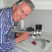 Bob spent over a year working on designing his EasyLock in his kitchen...