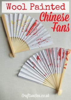 Wool Painted Chinese Fan Craft - Crafts on Sea