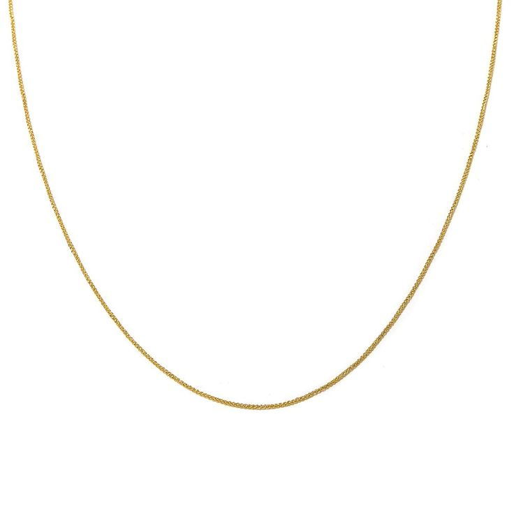"""Passport to Gold 14K Gold 1mm Wheat-Chain 20"""" Necklace"""