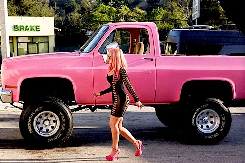 Oh yess!!! It's Pink..My ex- husband use to have an Orange one like this. It was pretty awesome! My Dream Truck <3
