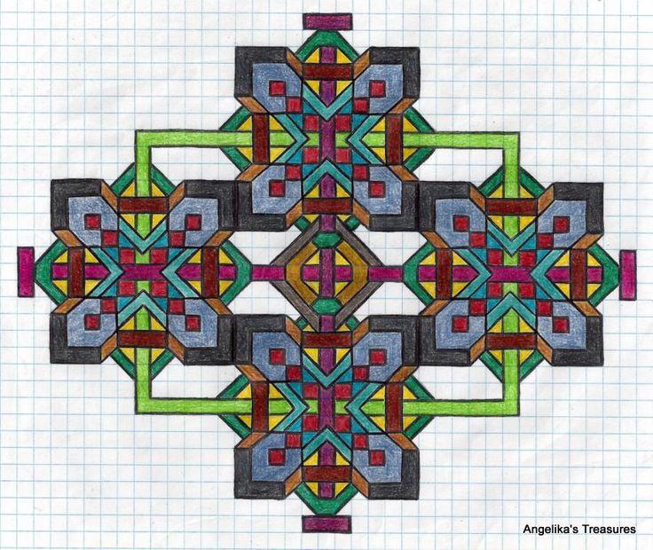 137 best Graph paper Art-Drawings / RuitjesPapier Tekeningen , Eigen