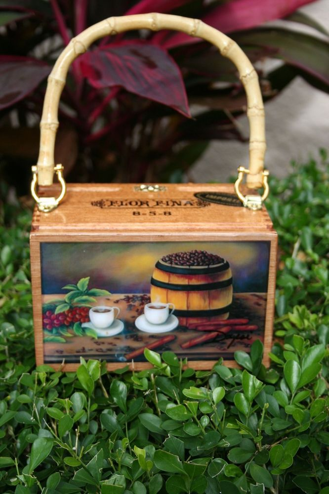 Fine Art. Cigar Box Purse W/ Artwork on Top. Dozen The Best price of Miami. #Fashion
