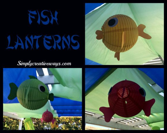 "My husband walks in from work and asked me, ""Is there anything that you can't make out of a lantern?""  Yes, I have made a few other things from lanterns, Jellyfish Lanterns and Ice Cream Cone Lanterns. Now, I have these fun colorful fish lanterns that are so much fun to make.  You can create them in many different ways there are so many different species of fish out there. I changed the fins and tails on mine, but really the sky is the limit here.   What you will need: Lanterns Card Stock…"