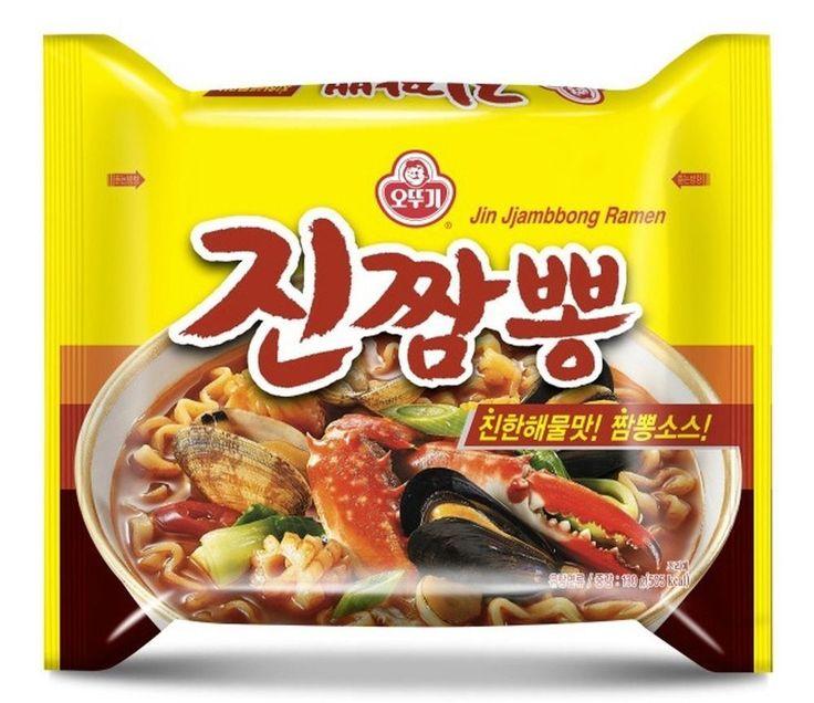 Korea Ramen Jin JjamPpong Ramyun Ottogi Instant Noodle Tasty Soup 1~10ea #OTTOGI