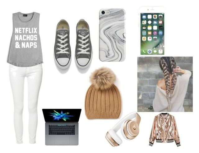 """""""Casual Movie day"""" by johrus ❤ liked on Polyvore featuring Mother, Converse, Beats by Dr. Dre, Recover and Sans Souci"""