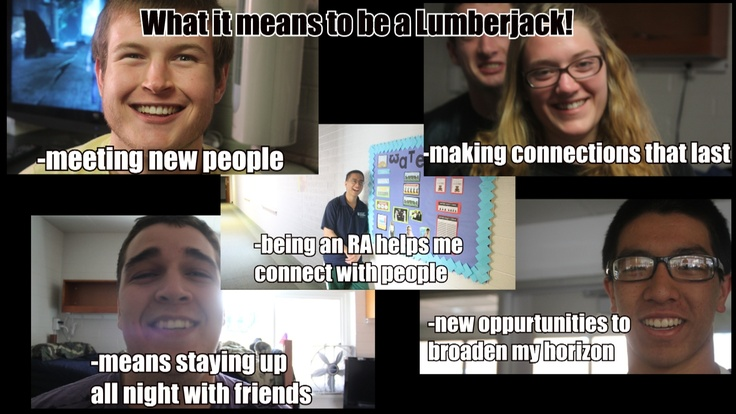 What it means to be a lumberjack! #emf299 #NAU