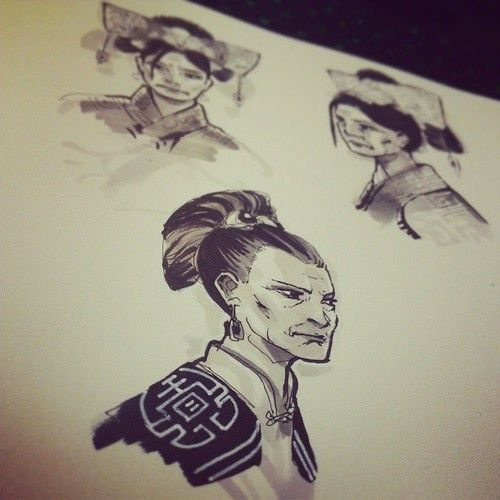 More retired Ching Shih concepts. This one's modeled after Michelle Yeoh! #sketchbook