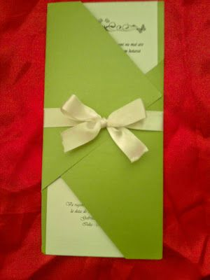 Despre invitatii si altele: Invitetie nunta handmade model 14