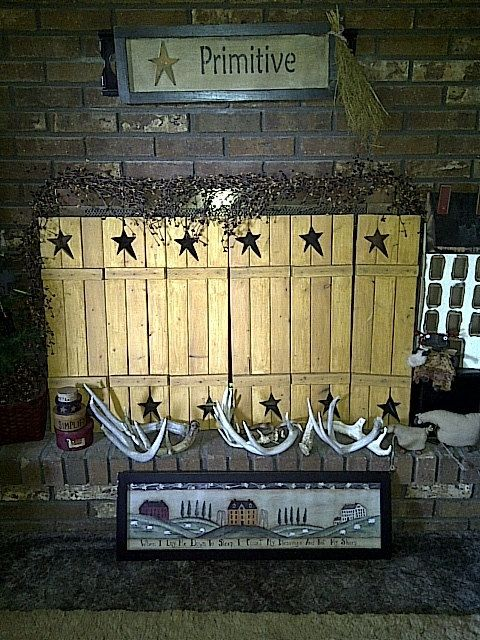 Primitive Window Shutters by RenaesCountryCrafts on Etsy, $45.00