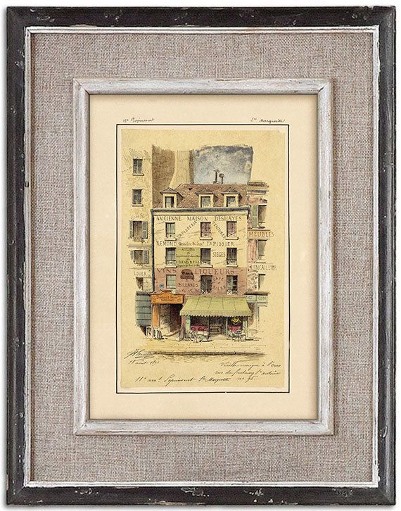 Rare detailed print of old Paris No.2 by J.A. by RoyalArtPrints