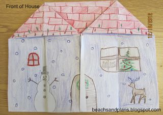 How to make a foldable house. Good for family unit or house vocab