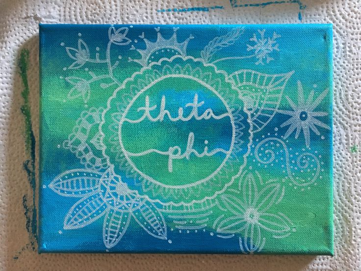 Theta phi alpha painting diy - did this for my little :)