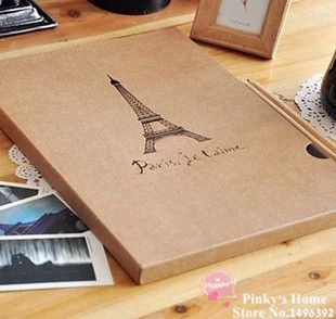 High Quality Romantic Eiffel Tower Photo Album A4 Handmade Vintage DIY Scrapbooking Photo Album Card Stock