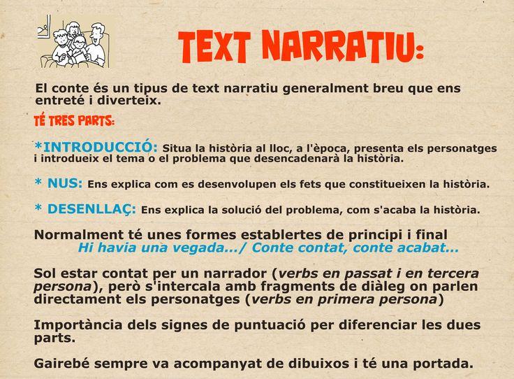 Característiques text narratiu
