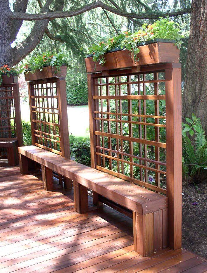 Best 25 deck benches ideas on pinterest outdoor deck for Deck trellis