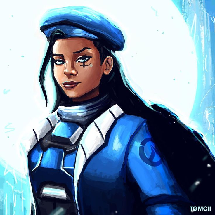 #art #painting #drawing #illustration #blue #ana #overwatch #games #gaming #video #ow #blizz #blizzard #hero #heroine #character #armor #cyan