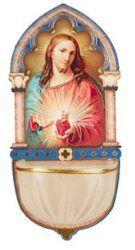 Luminous Sacred Heart of Jesus Holy Water Font.