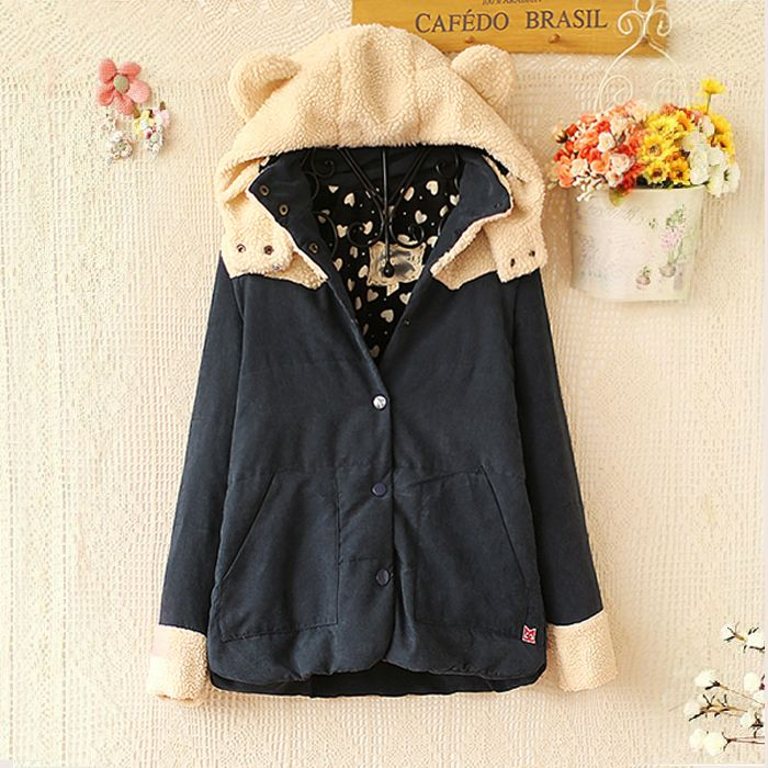 Fabric: Cotton Blend Color: red, navy blue Size: M, L M; Bust 102cm, Shoulder 40cm, Sleeve 56cm, Length 65cm L; Bust 106cm, Shoulder 42cm, Sleeve 56cm, Length 66cm visiting store: http://www.storenvy.com/stores/188265-cute-kawaii find more amazing cute fashion things, some suit for ...