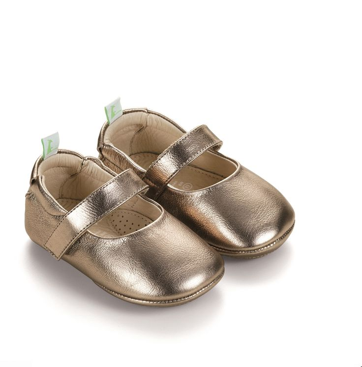 Tip Toey Joey - Dolly Shoes In Gold Sparkle