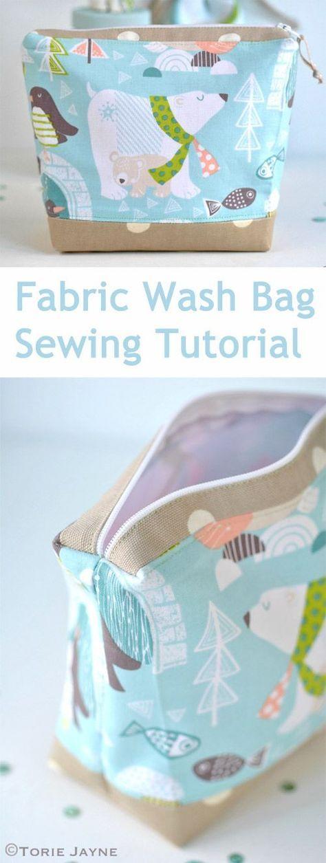 Fabric Wash Bag Sewing DIY Tutorial http://www.free-tutorial.net/2017/09/fabric-wash-bag-sewing-tutorial.html