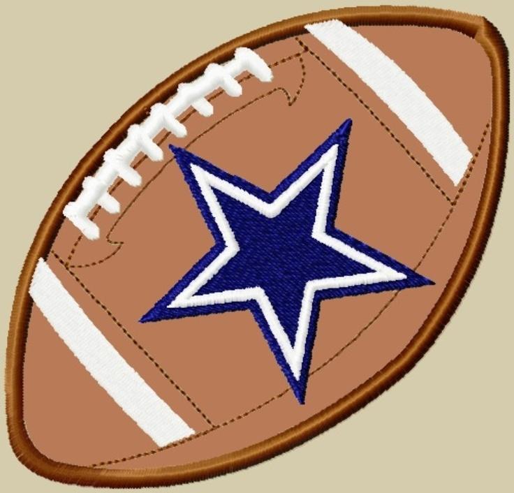 Navy Rug Dallas Cowboys football applique
