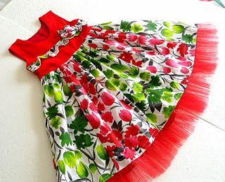 Los patrones de costura para chicas Vestidos y Faldas: Tutorial de costura para las niñas, 6 meses y 10 años, Ashley con paneles vestido