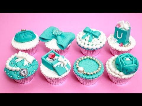 TIFFANY Cupcakes Cake Toppers How To Decorate Fashion Cupcakes by CakesStepbyStep - YouTube