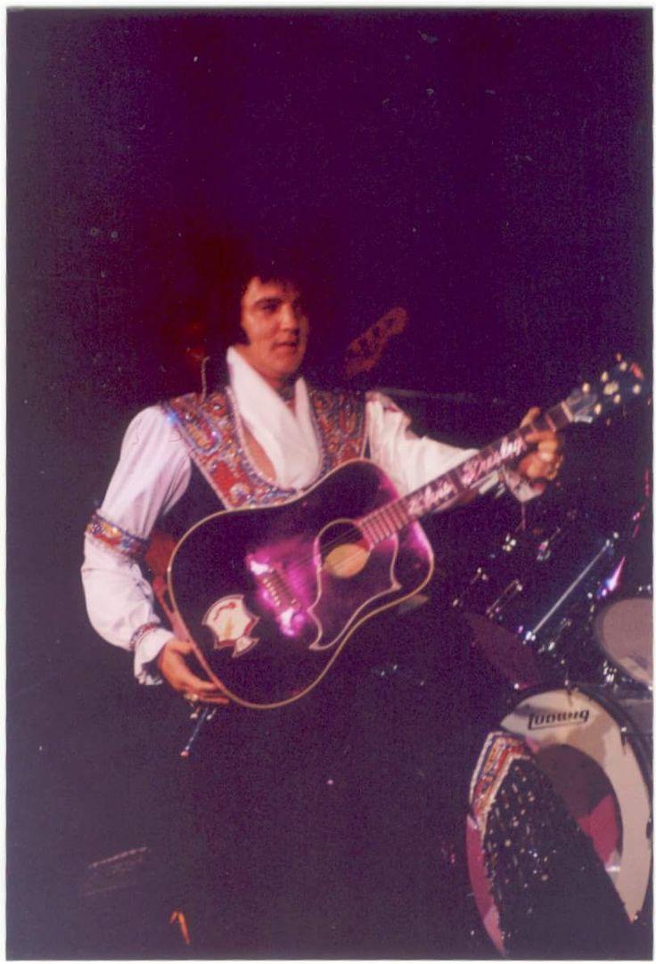 July 23, 1975: Elvis performed at 8:30p.m. to a crowd of 7,437 at the Asheville Civic Center, in Asheville, North Carolina. @EPNashvilleFans